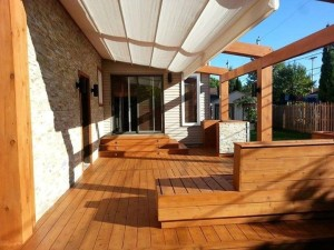 Recouvrement de patio bois excel for Recouvrement de balcon exterieur