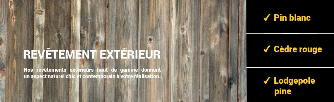 Rev tement ext rieur pin et c dre rouge bois excel for Recouvrement de plancher exterieur